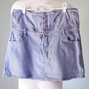 YMI High Waisted Cotton Mini Skirt